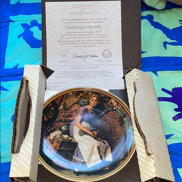 I'm in the attic Norman Rockwell plate